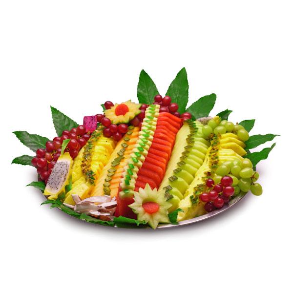 מגש פירות חתוכים אננס אבטיח מלון