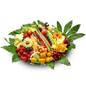 מגש פירות חתוכים גדול