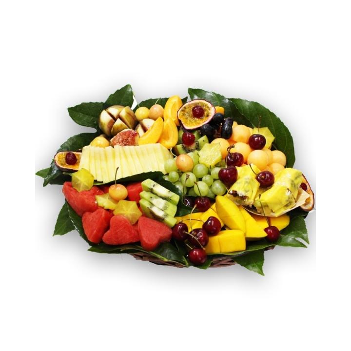 סלסלת פירות אקזוטית+סושי