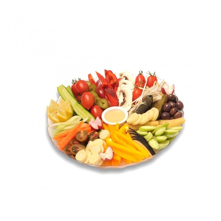 מגש ירקות עגול
