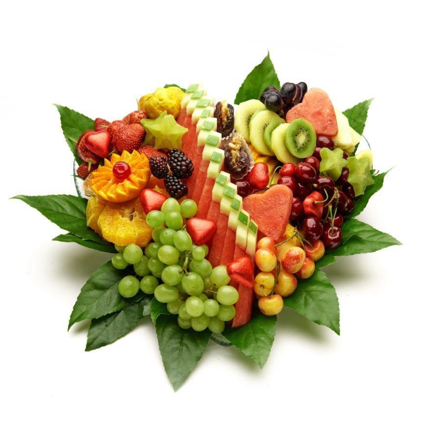 מגש פירות בצורת לב
