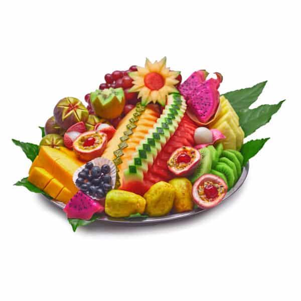מגש פירות עגול